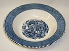 Royal China CURRIER and IVES MAPLE SUGARING 9 Inch ROUND BOWL