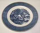 Royal China CURRIER and IVES OLD GRIST MILL 9 1/8 In LUNCHEON PLATE