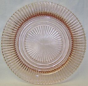 Hocking Glass Pink QUEEN MARY 9 3/4 Inch DINNER PLATE