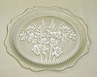 Jeannette Crystal IRIS and HERRINGBONE 8 Inch LUNCHEON PLATE