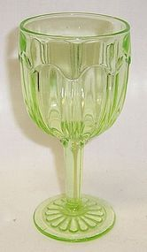Hocking Green COLONIAL KNIFE and FORK 5 1/4 In 4 Oz CLARET GOBLET