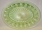 Hocking Green COLONIAL KNIFE and FORK 12 In OVAL SERVING PLATTER