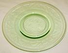Hazel Atlas Green CLOVERLEAF 6 Inch DESSERT PLATE