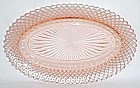 Hocking Pink MISS AMERICA 10 1/2 Inch CELERY DISH or PLATE