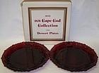 Avon Ruby Red 1876 CAPE COD 7 Inch DESSERT PLATES, 2 Per O. BOX