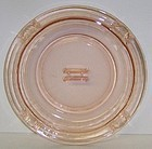 Hazel Atlas Pink MODERNTONE 7 3/4 In ASH TRAY w/MATCH HOLDER