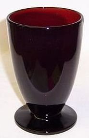Anchor Hocking Fire King ROYAL RUBY 5 Inch FOOTED TUMBLER