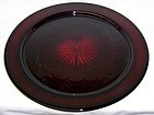 Cristal D'Arques DURAND France Antique Ruby 12 3/4 Inch TORTE PLATE