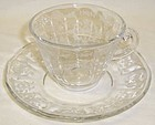 Fostoria Elegant Glass Crystal NAVARRE CUP and SAUCER