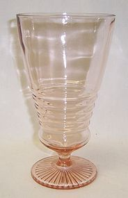 Vintage 1950s Pink 6 3/4 Inch High SODA FOUNTAIN GLASS or ICE TEA