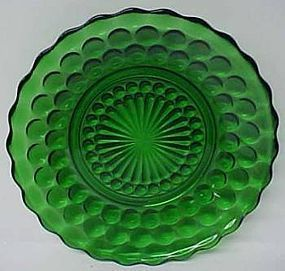 Anchor Hocking Fire King Green BUBBLE 6 3/4 In BREAD n BUTTER PLATE