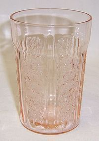 Federal Pink SHARON CABBAGE ROSE 4 Inch THIN WATER TUMBLER