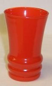 Anchor Hocking Fired On ORANGE 3 3/4 Inch JUICE TUMBLER