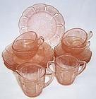 Jeannette Pink CHERRY BLOSSOM 14 Piece CHILDS DINNER DISH SET