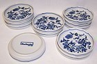 Blue Danube Japan 3 1/2 Inch COASTERS, Set of Eleven
