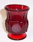 Fostoria Ruby Red COIN 3 1/2 Inch High CIGARETTE HOLDER or URN