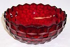 Fostoria Ruby Red AMERICAN 8 1/2 Inch ROUND SERVING BOWL-Scarce