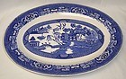 Homer Laughlin China BLUE WILLOW 13 1/2 Inch OVAL Serving PLATTER