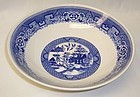 Homer Laughlin China BLUE WILLOW 8 3/4 Inch ROUND VEGETABLE BOWL