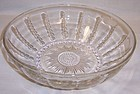 Federal Glass Crystal COLUMBIA 8 1/2 Inch Round SALAD BOWL
