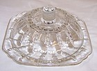 Federal Crystal Depression Glass COLUMBIA BUTTER DISH with LID