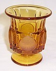 Fostoria Amber COIN 3 1/2 Inch High CIGARETTE HOLDER URN