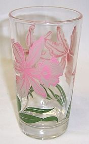 Unknown Maker PEANUT BUTTER 5 Inch Glass-Gray Pink ORCHID