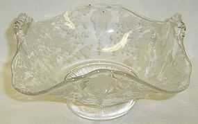 Cambridge Crystal ROSE POINT 5 3/4 Inch Number 3500/55 HANDLED BASKET