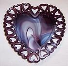 Westmoreland PURPLE SLAG Glass 8 Inch HEART PLATE