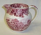 Woods and Sons ENOCH Pink ENGLISH SCENERY 24 Ounce Milk PITCHER