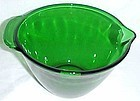 Anchor Hocking Forest Green Fire King Kitchen BATTER PITCHER