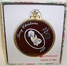 Westmoreland 1979 Red CHRISTMAS ORNAMENT-CHILD-PRAYING