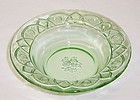 Federal Depression Glass Green ROSEMARY 5 Inch BERRY or FRUIT BOWL