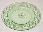 Federal Green ROSEMARY DUTCH ROSE 6 3/4 Inch SALAD PLATE