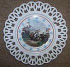 Westmoreland Milk Glass SURRENDER of CORNWALLIS Plate