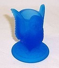 Westmoreland Glass Blue Mist OWL TOOTH PICK HOLDER