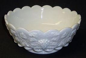 Westmoreland Milk Glass PANELED GRAPE 8 1/2 Inch ROUND BOWL