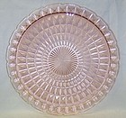 Jeannette Pink WINDSOR DIAMOND 13 1/2 In SANDWICH or CHOP PLATE