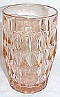 Jeannette Pink WINDSOR DIAMOND 5 Inch 12 Ounce ICE TEA TUMBLER