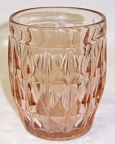 Jeannette Pink WINDSOR DIAMOND 4 Inch 9 Ounce WATER TUMBLER