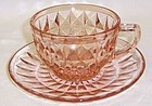 Jeannette Pink WINDSOR DIAMOND Tea or Coffee CUP and SAUCER