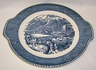 Royal China CURRIER and IVES Rocky Mountains 10 In HANDLED CAKE PLATE