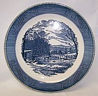 Royal China CURRIER and IVES GETTING ICE 12 Inch SANDWICH PLATE
