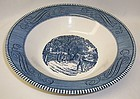 Royal China CURRIER and IVES HOME SWEET HOME 10 Inch ROUND BOWL