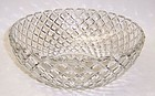 Hocking Crystal WATERFORD WAFFLE 8 1/4 Inch Large ROUND BOWL