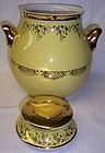 Hall China Gold SQUIGGLE Yellow BIG EAR COOKIE JAR with LID