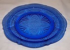 Hazel Atlas Cobalt Blue ROYAL LACE 9 3/4 Inch DINNER PLATE