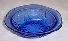 Hazel Atlas Cobalt ROYAL LACE 5 1/4 Inch BERRY or FRUIT BOWL