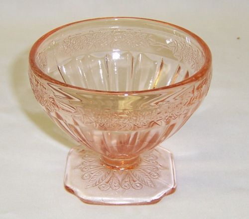 Jeannette Pink ADAM Depression Glass 3 Inch Footed SHERBET DISH