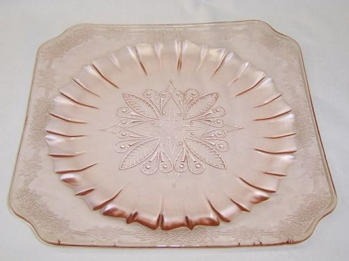 Jeannette Pink ADAM Depression Glass 7 1/2 Inch SALAD PLATE